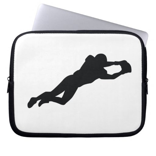 Football Player Black Silhouette Laptop Computer Sleeve