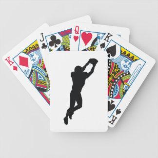 Football Player Black Silhouette Card Deck