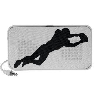 Football Player Black Silhouette Mp3 Speaker