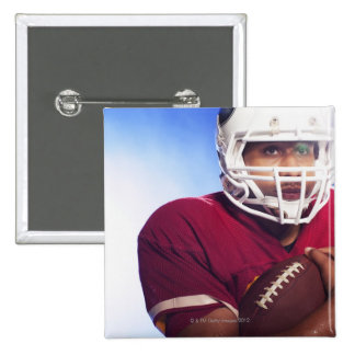 Football player carrying ball 15 cm square badge