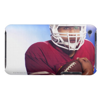 Football player carrying ball barely there iPod case