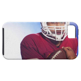 Football player carrying ball case for the iPhone 5