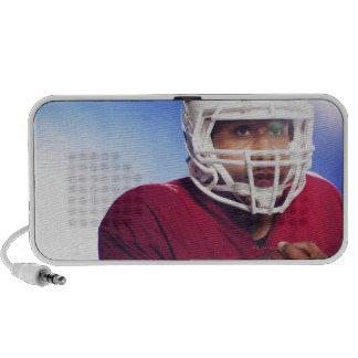 Football player carrying ball mp3 speaker