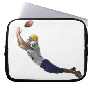 football player catching a pass laptop sleeve