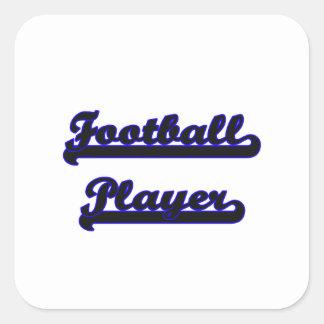 Football Player Classic Job Design Square Sticker