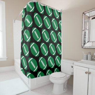 Football Player/Coach Green Football ShowerCurtain Shower Curtain