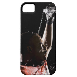 Football player cooling off with water barely there iPhone 5 case