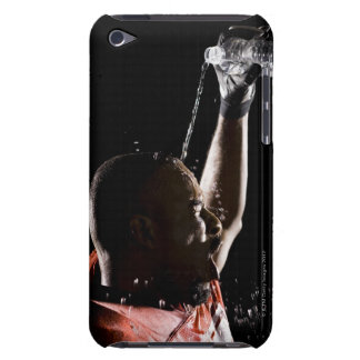 Football player cooling off with water iPod Case-Mate case