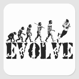 Football Player Evolution Fun Sports Art Stickers