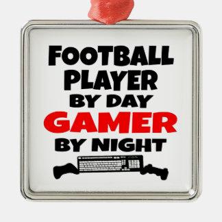 Football Player Gamer Christmas Ornament