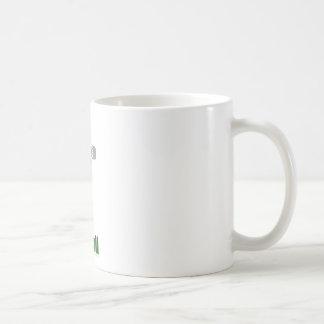 Football player green and gold coffee mug