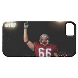 Football player holding up index finger iPhone 5 cover