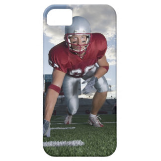 Football player in game stance iPhone 5 cover