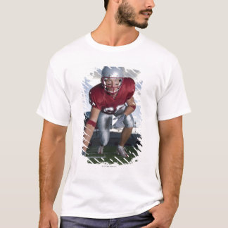 Football player in game stance T-Shirt