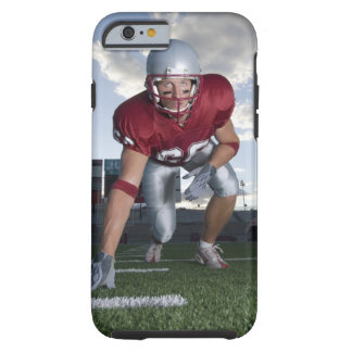 Football player in game stance tough iPhone 6 case