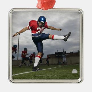 Football Player Kicking Football 2 Christmas Ornament