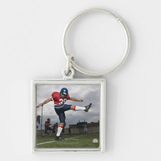 Football Player Kicking Football 2 Key Ring