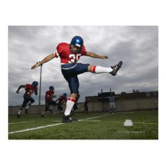 Football Player Kicking Football 2 Postcard