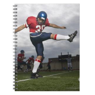 Football Player Kicking Football 2 Spiral Notebook