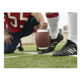 Football Player Kicking Football Postcard