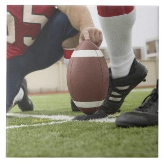 Football Player Kicking Football Tile