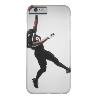 Football player leaping in mid air to catch ball barely there iPhone 6 case