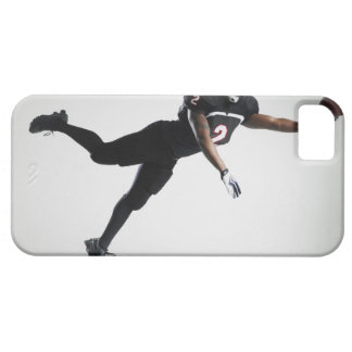 Football player leaping in mid air to catch ball iPhone 5 cover