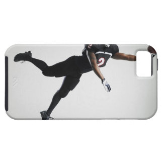 Football player leaping in mid air to catch ball tough iPhone 5 case