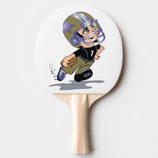 FOOTBALL PLAYER Ping Pong Paddle Black Rubber Back