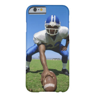 football player playing on a football field barely there iPhone 6 case