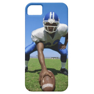 football player playing on a football field iPhone 5 case