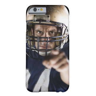 Football player pointing and looking intense barely there iPhone 6 case