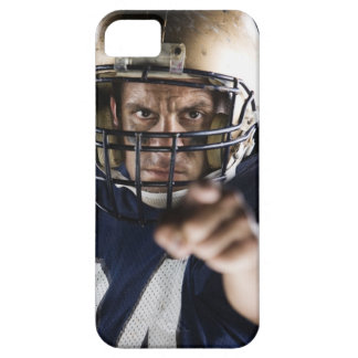 Football player pointing and looking intense iPhone 5 case
