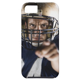 Football player pointing and looking intense iPhone 5 cover