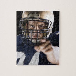 Football player pointing and looking intense jigsaw puzzle