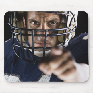 Football player pointing and looking intense mouse mat