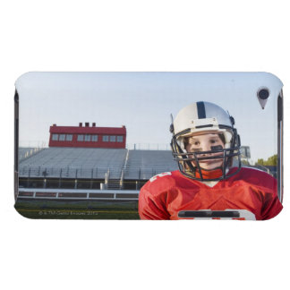 Football player posing on field iPod touch Case-Mate case
