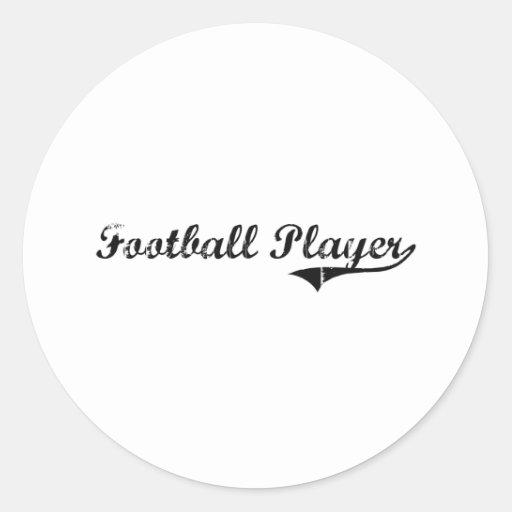 Football Player Professional Job Round Stickers