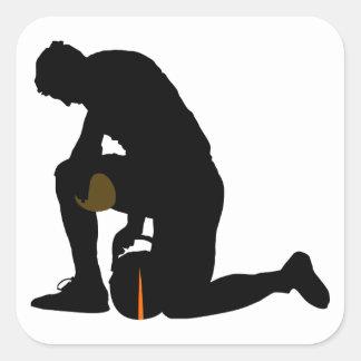football player silhouette sticker