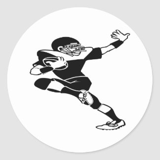 Football Player Round Stickers