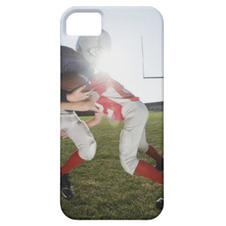 Football player tackling opponent case for the iPhone 5