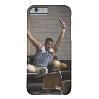 Football player watching football and cheering barely there iPhone 6 case