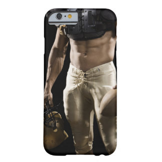 Football player with protective gear, football, barely there iPhone 6 case