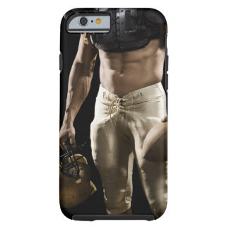 Football player with protective gear, football, tough iPhone 6 case