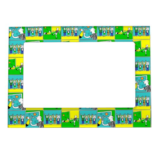 Football Players and Fans Magnetic Frame