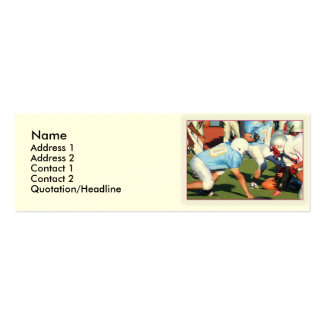 Football players Double-Sided mini business cards (Pack of 20)