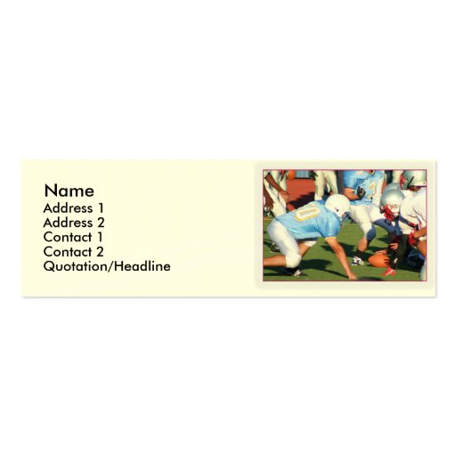 Football players business card template