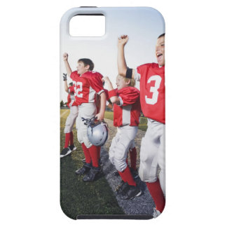 Football players cheering on sideline tough iPhone 5 case