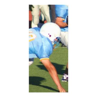 Football players customized rack card