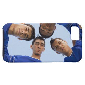 Football players huddled together tough iPhone 5 case